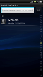 Sony Ericsson Xpéria Arc - Contact, Appels, SMS/MMS - Envoyer un SMS - Étape 6