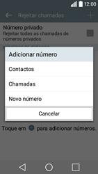 LG Y50 / LEON - Chamadas - Como bloquear chamadas de um número -  8