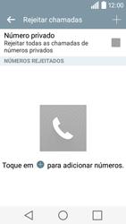 LG Y50 / LEON - Chamadas - Como bloquear chamadas de um número -  7