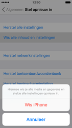 Apple iPhone 5c iOS 10 - Resetten - Fabrieksinstellingen terugzetten - Stap 6