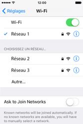 Apple iPhone 4 S iOS 9 - WiFi et Bluetooth - Configuration manuelle - Étape 7