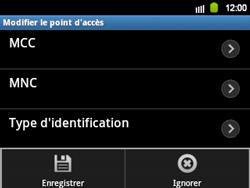 Samsung B5510 Galaxy TXT - Internet - configuration manuelle - Étape 13