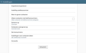 Samsung Galaxy Tab4 10.1 4G (SM-T535) - Contacten en data - Contacten kopiëren van toestel naar SIM - Stap 11