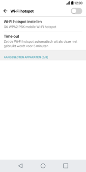 LG G6 (LG-H870) - WiFi - Mobiele hotspot instellen - Stap 5