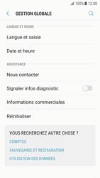 Samsung G930 Galaxy S7 - Android Nougat - Appareil - Réinitialisation de la configuration d