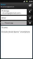 Sony Xperia U - E-mail - Escribir y enviar un correo electrónico - Paso 12