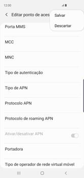 Samsung Galaxy S10 - Internet (APN) - Como configurar a internet do seu aparelho (APN Nextel) - Etapa 15