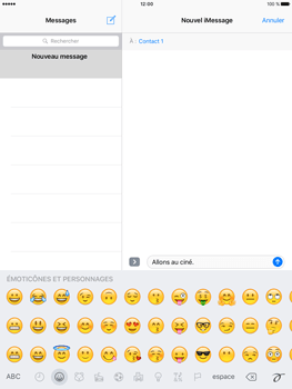 Apple iPad Air 2 iOS 10 - iOS features - Envoyer un iMessage - Étape 13