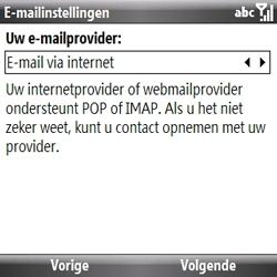 Samsung B7330 Omnia Pro - E-mail - handmatig instellen - Stap 7