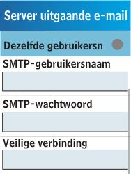Samsung C3300K - E-mail - Handmatig instellen - Stap 19