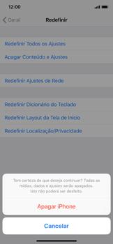 Apple iPhone X - iOS 12 - Funções básicas - Como restaurar as configurações originais do seu aparelho - Etapa 7