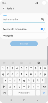Samsung Galaxy S10 - Wi-Fi - Como configurar uma rede wi fi - Etapa 8