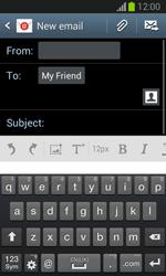 Samsung S7390 Galaxy Trend Lite - E-mail - Sending emails - Step 8