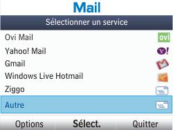 Nokia Asha 302 - E-mail - Configurer l