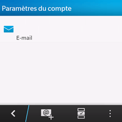 BlackBerry Q10 - E-mail - Configuration manuelle - Étape 5