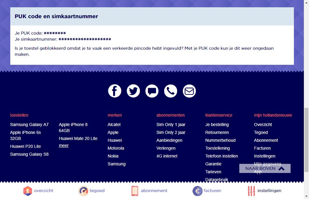 Apple iPhone 11 Pro - mijn hollandsnieuwe - PUK code vinden via mijn hollandsnieuwe - stap 6