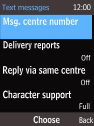 Nokia 220 - SMS - Handmatig instellen - Stap 10