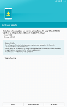 Samsung Galaxy Tab A 10.1 (SM-T585) - Software updaten - Update installeren - Stap 6