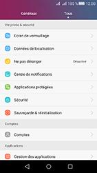 Huawei Y6 II Compact - Device maintenance - Retour aux réglages usine - Étape 4