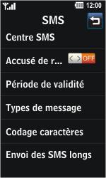 LG GD510 Pop - SMS - Configuration manuelle - Étape 5