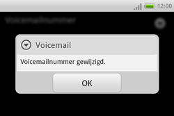 HTC A810e ChaCha - Voicemail - handmatig instellen - Stap 8