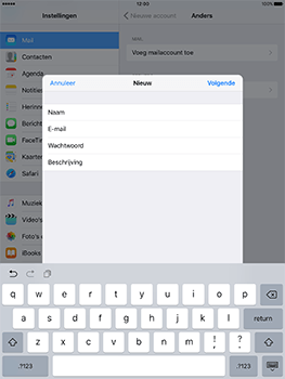 Apple iPad 9.7 (Model A1823) - E-mail - Handmatig instellen - Stap 10