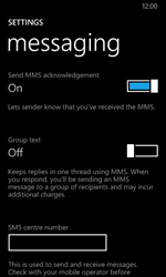 Nokia Lumia 635 - SMS - Manual configuration - Step 8