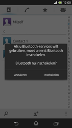Sony Xperia Z 4G (C6603) - Contacten en data - Contacten overzetten via Bluetooth - Stap 10