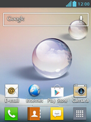 LG Optimus L3 II - Internet - Ver uso de datos - Paso 1