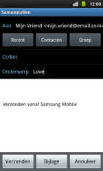 Samsung I9001 Galaxy S Plus - E-mail - Hoe te versturen - Stap 7