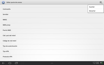 Samsung P7500 Galaxy Tab 10-1 - Internet - Configurar Internet - Paso 11
