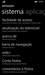 Nokia Lumia 530 - Repor definições - Como repor definições de fábrica do telemóvel -  5