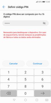 Huawei P Smart - Segurança - Como ativar o código de bloqueio do ecrã -  9