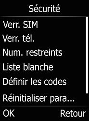 Doro 6520 - Sécuriser votre mobile - Activer le code de verrouillage - Étape 5