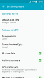 Samsung Galaxy A5 - Segurança - Como ativar o código de bloqueio do ecrã -  12