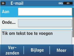 Samsung C3500 Chat 350 - E-mail - e-mail versturen - Stap 4