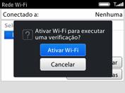 BlackBerry 9620 - Wi-Fi - Como configurar uma rede wi fi - Etapa 6