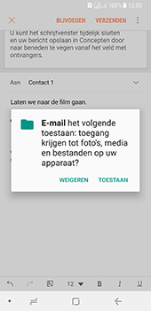 Samsung Galaxy A8 (2018) (SM-A530F) - E-mail - Bericht met attachment versturen - Stap 12