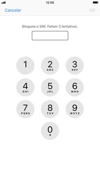 Apple iPhone 8 Plus - iOS 12 - Segurança - Como ativar o código PIN do cartão de telemóvel -  6