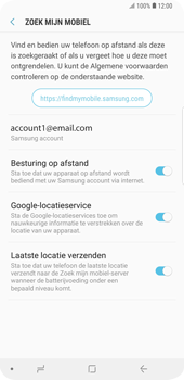 Samsung Galaxy S9 Plus - Beveiliging en privacy - zoek mijn mobiel activeren - Stap 9