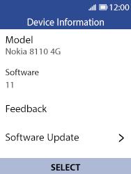Nokia 8110 Banana - Device - Software update - Step 7