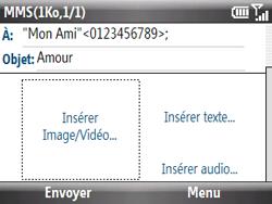 HTC S521 Snap - MMS - Envoi d