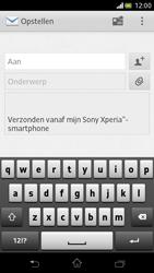 Sony LT30p Xperia T - E-mail - E-mail versturen - Stap 5