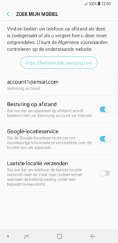 Samsung Galaxy S8 Plus - Android Oreo - Beveiliging en privacy - Zoek mijn mobiel activeren - Stap 7