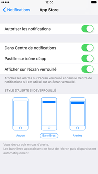 Apple Apple iPhone 6 Plus iOS 10 - iOS features - Personnaliser les notifications - Étape 10