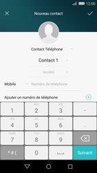 Huawei P8 Lite - Contact, Appels, SMS/MMS - Ajouter un contact - Étape 6