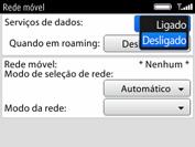 BlackBerry 9620 - Rede móvel - Como ativar e desativar uma rede de dados - Etapa 7