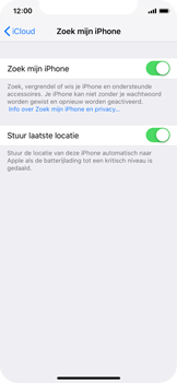 Apple iPhone X - iOS 12 - Beveiliging en privacy - zoek mijn iPhone activeren - Stap 13