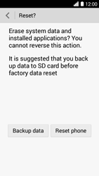 Huawei Ascend Y530 - Device maintenance - How to do a factory reset - Step 7