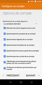 ZTE Blade V9 - E-mail - Configuration manuelle (outlook) - Étape 12